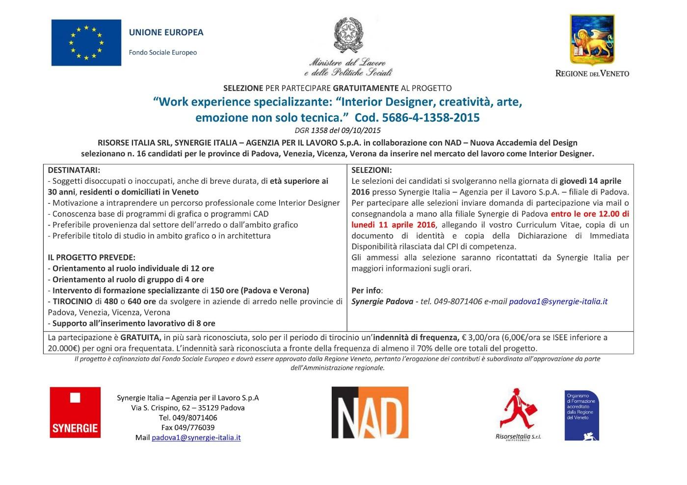Nuova Accademia Del Design work experience specializzante